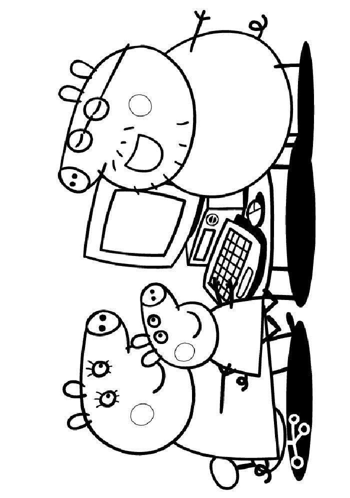 Coloring Page Peppa Pig Kids N Fun