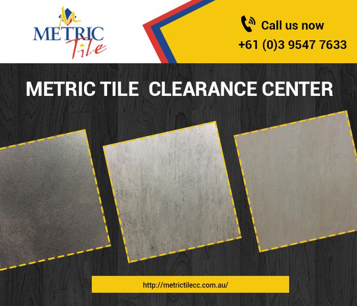 Looking for top quality clearance tiles and discontinued tiles in Melbourne. Look no further than Metric Tile Clearance Center.  We are leading importer of exotic and elegant tiles in Melbourne. We are incredibly rich in our stocks and provide our customers some great choices. We are in the business of importing and providing quality tiles since last several decades.  Contact us: 42 Westall Road, Springvale, Melbourne VIC 3171  Phone No: (03)95477633  Email: sales@metrictile.com.au