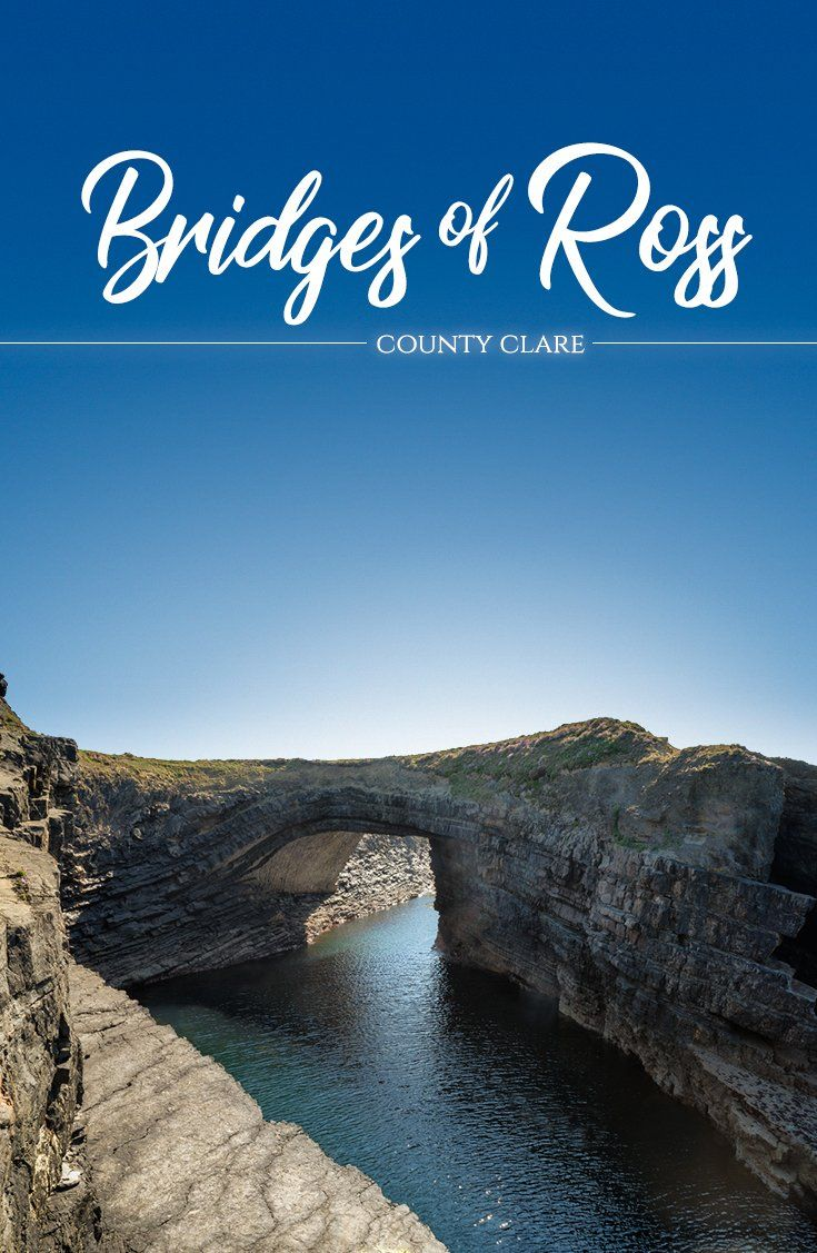 What makes the Wild Atlantic Way so wonderful? That would be the way nature has molded this magnificent landscape into a collection of untamed wonders. Like the Bridges of Ross, which lie on the western side of a natural harbor in County Clare. Once a trio of naturally formed arches, two have since fallen into the wild waves below…