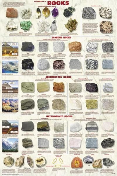 Introduction To Rocks Poster 24x36 by Feenixx Publishing. Laminated, Illustrated Poster...   The Earth is made of rocks and this poster provides a comprehensive