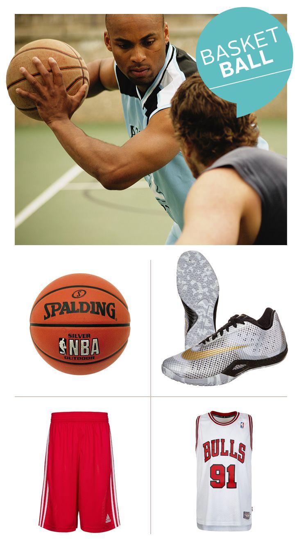 Einen olympiareifen Auftritt garantieren die adidas Performance Basketballshorts, die HyperLive Schuhe von Nike und das Chicago Bulls Trikot– ein echter Klassiker! Der Spalding NBA Basketball ist ein Muss für jedes Streetgame: Exzellenter Grip, haltbare Oberfläche und Top Ballkontrolle.