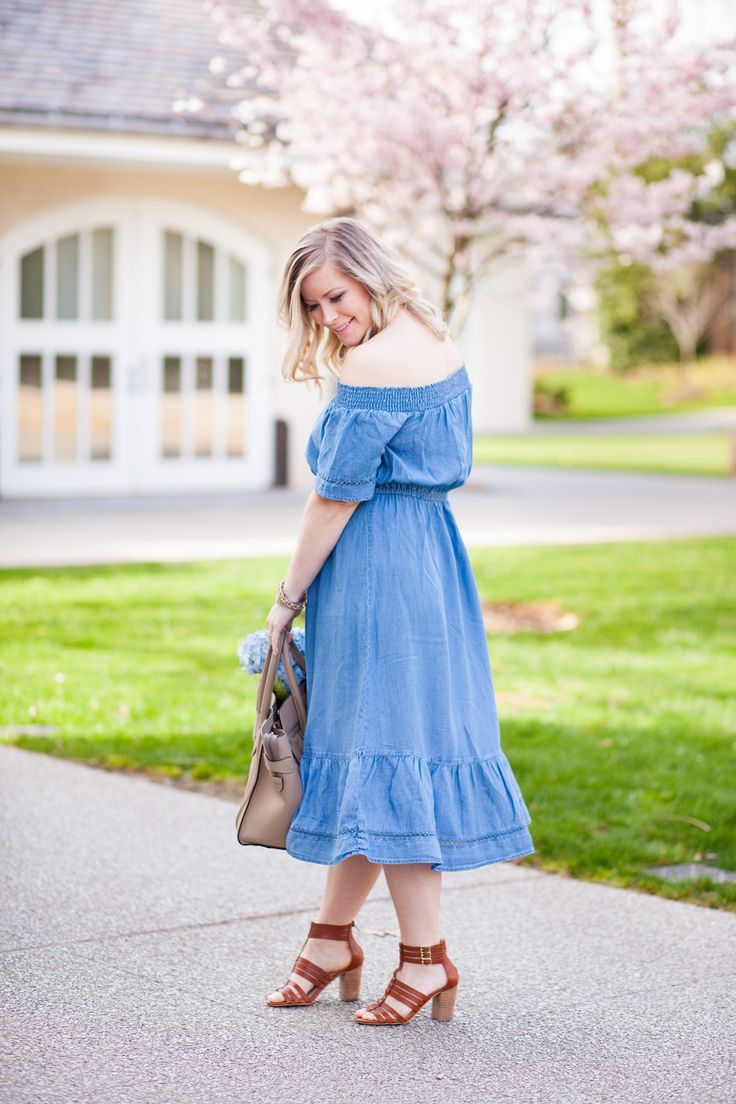 The chambray dress is the spring staple that you need in your closet.