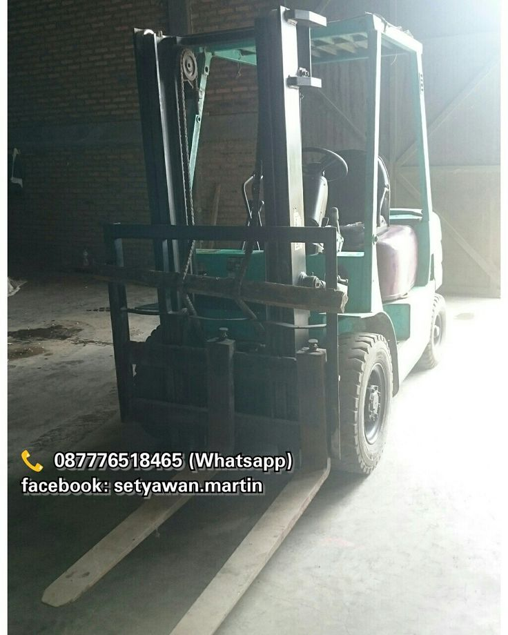 [ FOR SALE ] Forklift Mitsubishi 2.5 Ton, Manual, Lifting Height 3M, Diesel Engine Mitsubishi S4S, 📞 087776518465 (Whatsapp)