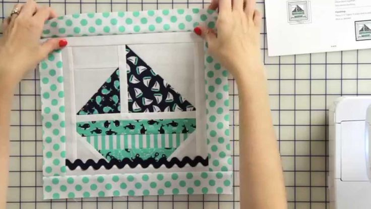 How to Make a Sail Boat Tooth Fairy Pillow Starting with a Quilt Block -...