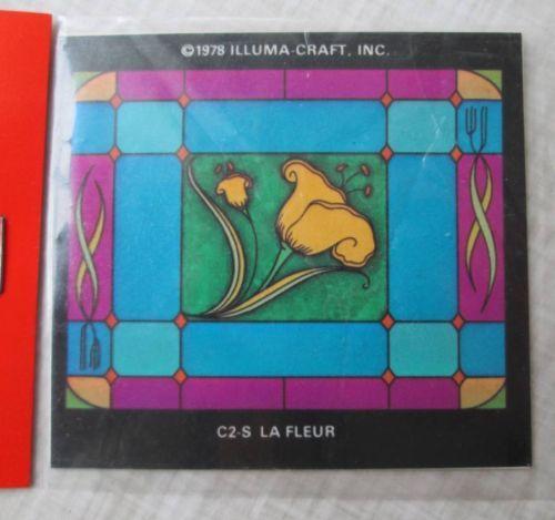 Vintage Illuma Craft Tulip Stained Glass Window Film KIT Doll House Miniature   eBay