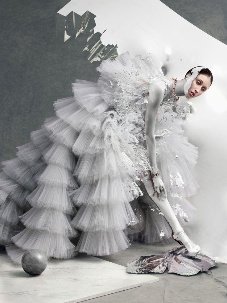Anna Cleveland by Sølve Sundsbø for Vogue Italia March 2016