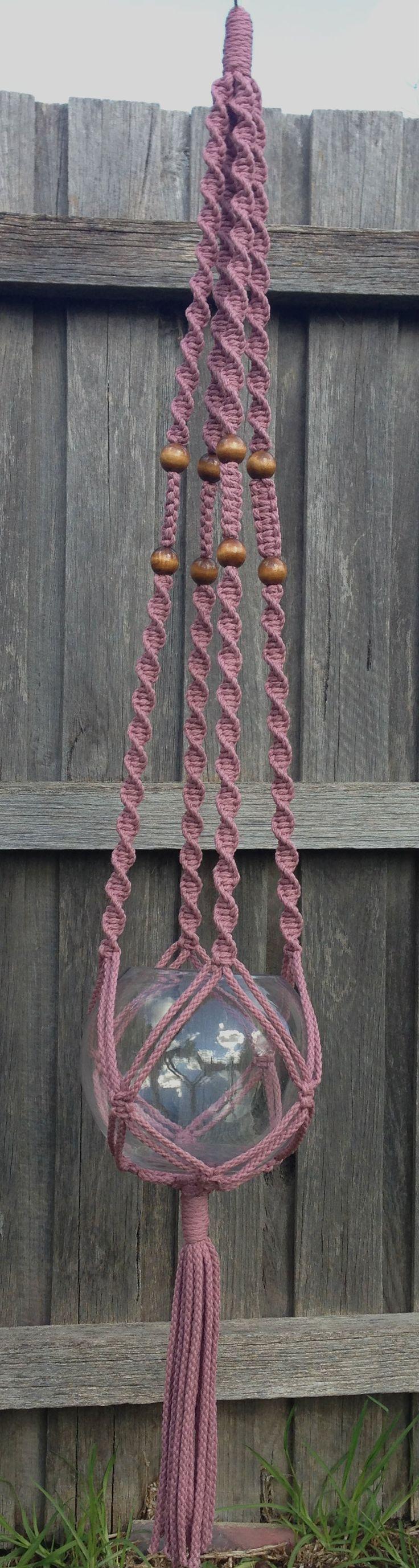 Macramé Hanging Basket - Teaberry www.knotsandbrushes.com.au