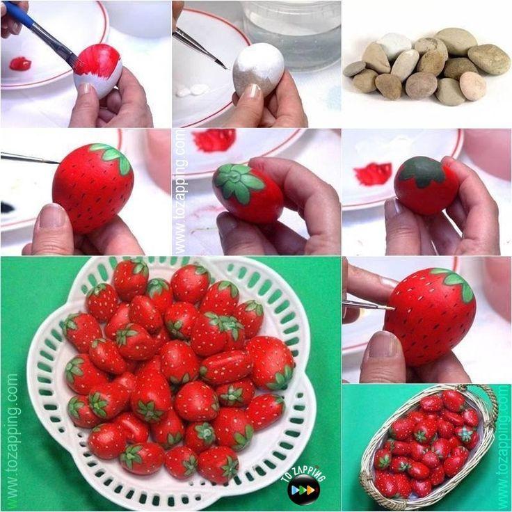 C mo hacer fresas con piedras hoy queremos que hacer una - Como de corar una cocina ...