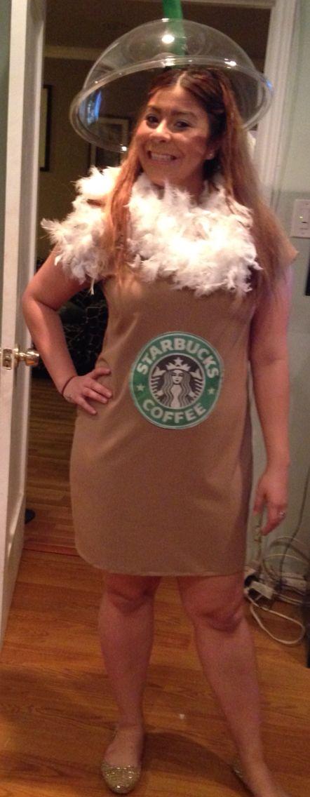 Homemade starbucks frap costume