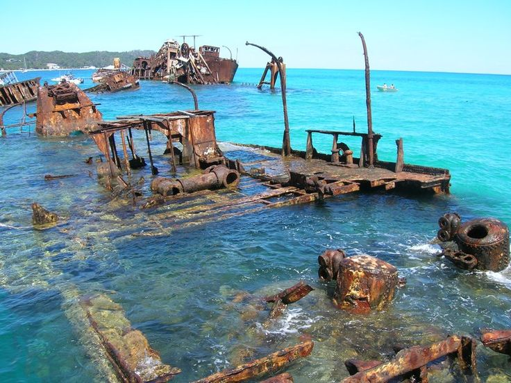 Shipwrecks in Moreton Island's bay - Moreton Island, Queensland. Absolutely beautiful ... too bad we couldn't snorkel because of rough water