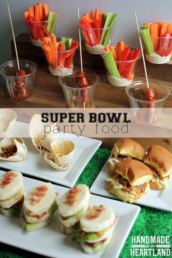 Super Bowl Party Food. An entire menu of easy to make recipes that your friends will love! #superbowl #footballfood