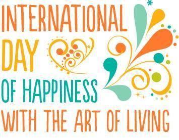 """HEUTE: """"International Day of Happiness"""" mit der Art of Living! In über 20 Städten in Deutschland findet in den nächsten zwei Wochen """"Art of Living Happiness Programme"""" statt. Finde hier einen Kurs in deiner Nähe: http://www.artofliving.org/de-de"""
