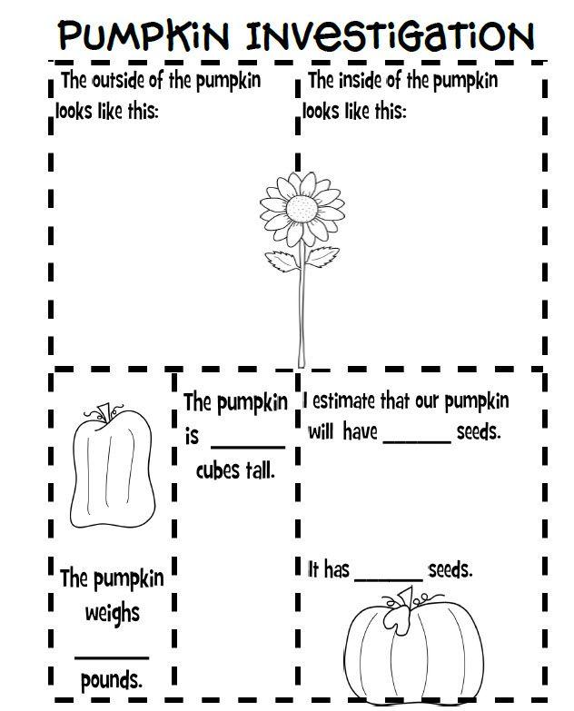 Pumpkin Investigations. Science Skills. Including predicting ...