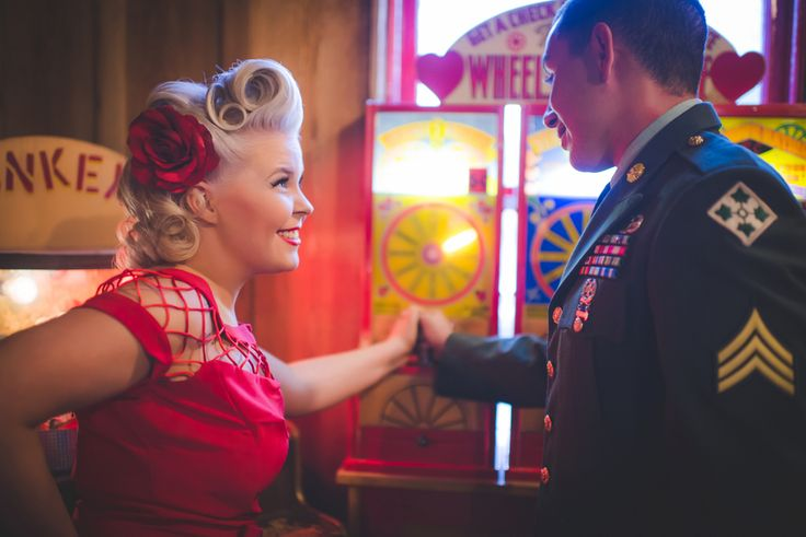 Manitou Springs – Penny Arcade Engagement - 1940's vintage engagement - Ashley Durham Photography - A Colorado Courtship Blog