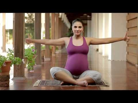 Great 3 minute exercises to teach your body what it's capable of.  Whew! - Prenatal Yoga with Lara Dutta - Labour Oriented endurance exercises:Keep--ups - YouTube