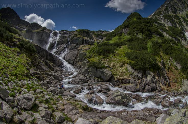 Siklawa - waterfall in the Tatra Mountains #Poland #Tatry