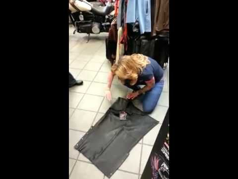 ▶ How to properly fold motorcycle chaps - YouTube