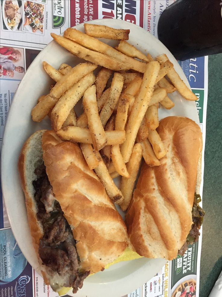 Phillis Cheese Steak Sandwich @ Metro Diner