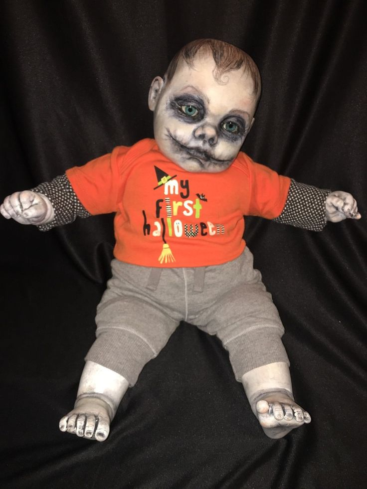 Gothic Baby Haunted OOAK 22 034 Cititoy Vinyl Cloth Doll Zombie Joker Glasgow Smile | eBay