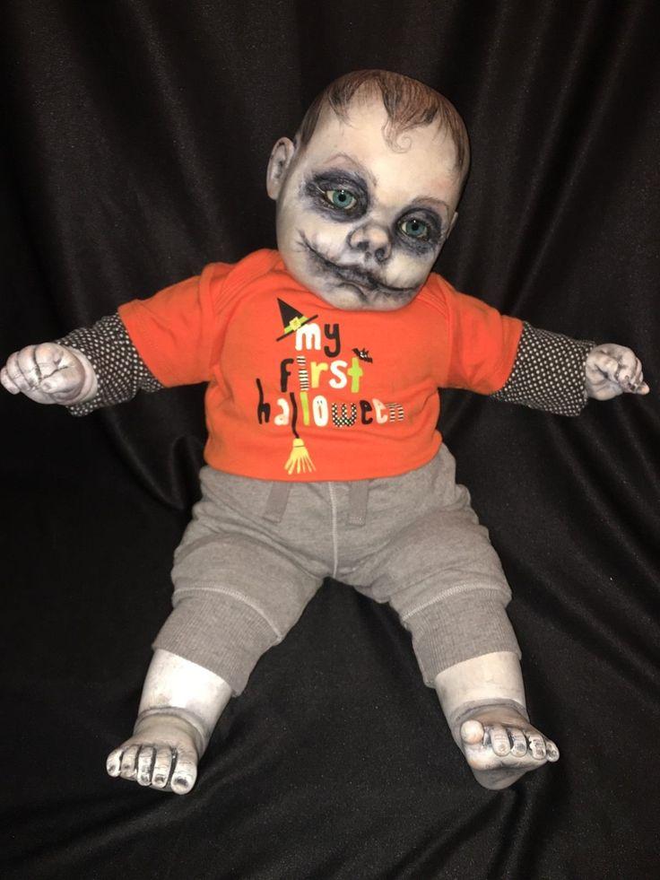 Gothic Baby Haunted OOAK 22 034 Cititoy Vinyl Cloth Doll Zombie Joker Glasgow Smile   eBay