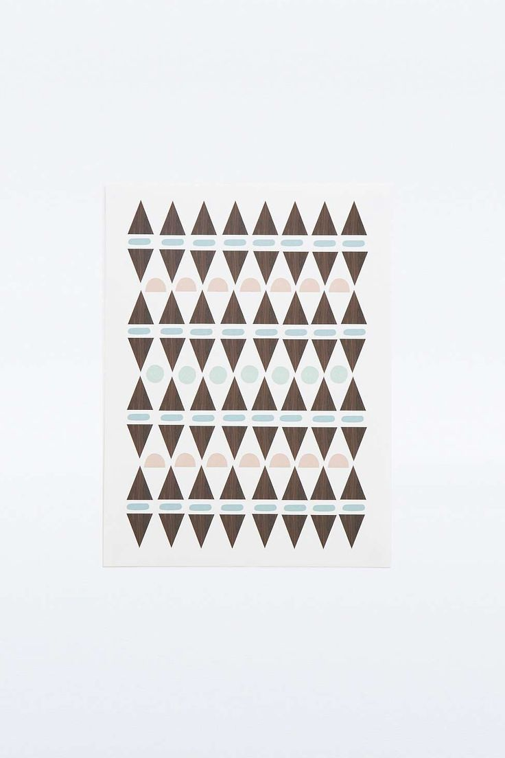 Poster motif triangles
