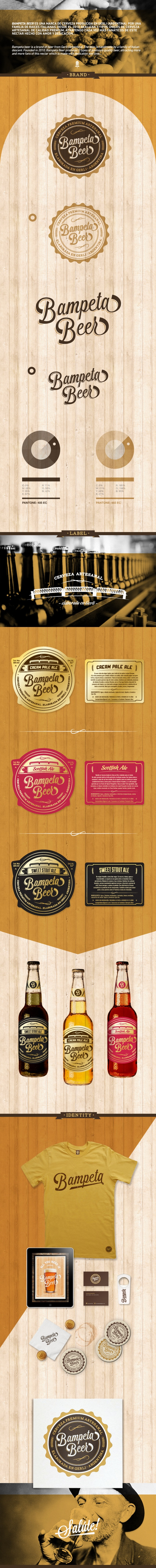 Bampeta Beer by Emiliano Aranguren, via Behance