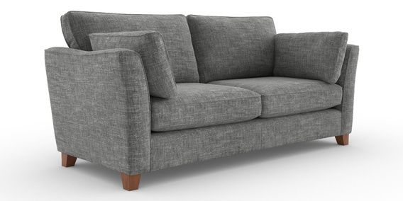 Peachy Buy Farrell Large Sofa 3 Seats Boucle Weave Dark Grey Low Gmtry Best Dining Table And Chair Ideas Images Gmtryco