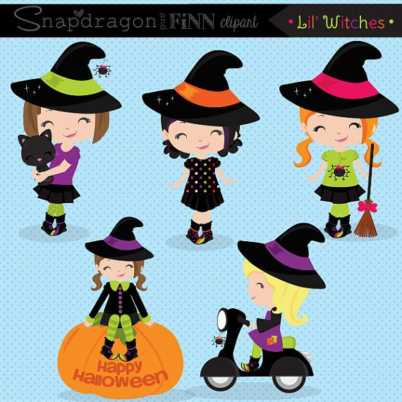 29+ Cute halloween witch clipart info