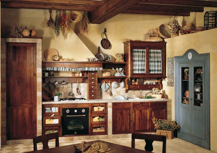 Marchi Group - Doralice Cucina rustica in legno massello – Cucina su misura in muratura - Stile country