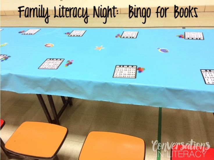 Great activity for Literacy Night- Bingo for Books!!