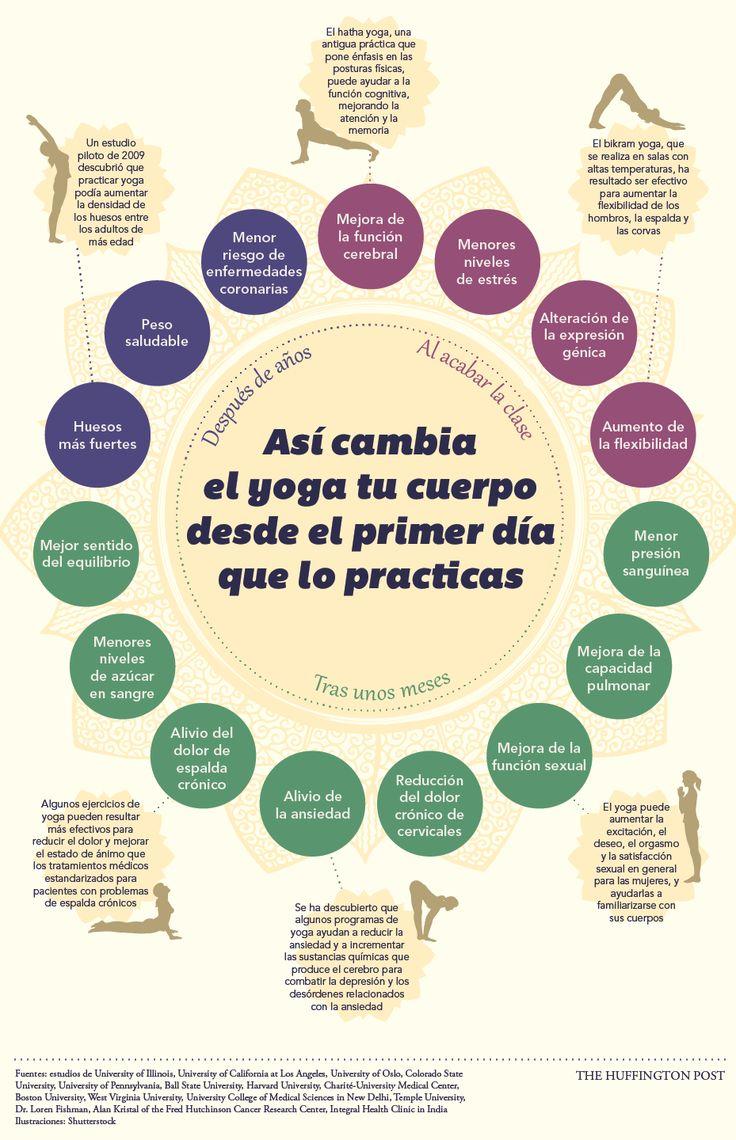 Cómo el yoga cambia tu cuerpo desde el primer día (INFOGRAFÍA)