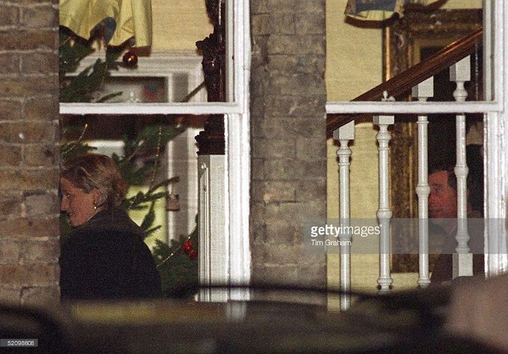 Prince Charles And Diana At Carol Concert At Eton College After Their Divorce.
