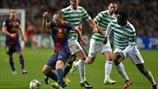 Charlie Mulgrew & Victor Wanyama (Celtic FC) & Andrés Iniesta (FC Barcelona) | FC Barcelona 1-2 Celtic. 07.11.12.