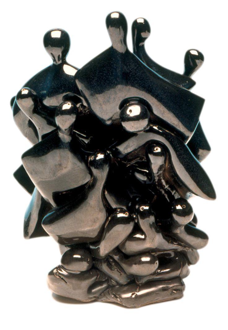 Kemal ULUDAĞ, 1991, Figurative Heap - Figürsel Yığın, 24x20x24 cm. Stoneware-1200 °C