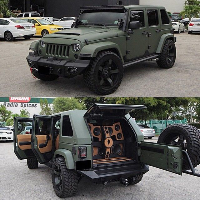 One Nasty Matte Green #AvorzaEdition Wrangler Built By @TheAutoFirm • check them out for more custom work #AlexVega
