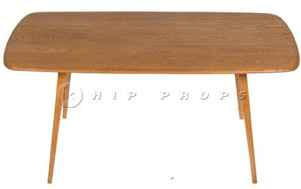 Ercol dining table designed by Luigi Ercolani 1950. Available to hire from  http://www.hipprops.com/Ercolani,_Luigi/Ercol_dining_table