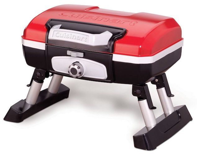 8: Cuisinart CGG-180T Petit Gourmet Portable Tabletop Gas Grill, Red