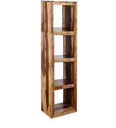 Maceio Solid Wood Book Shelf in Natural Sheesham Finish by Woodsworth