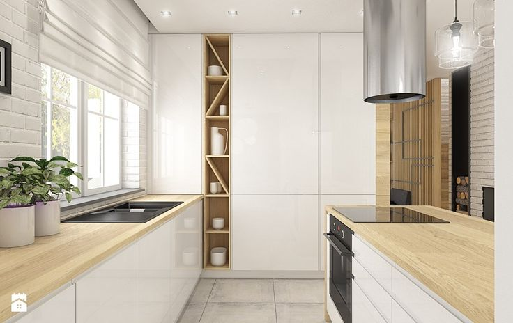 Dom w Bolesławcu - Średnia duża otwarta kuchnia w kształcie litery u z wyspą, styl nowoczesny - zdjęcie od WERDHOME