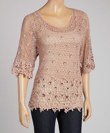 This Mauve Crocheted Top is perfect! #zulilyfinds