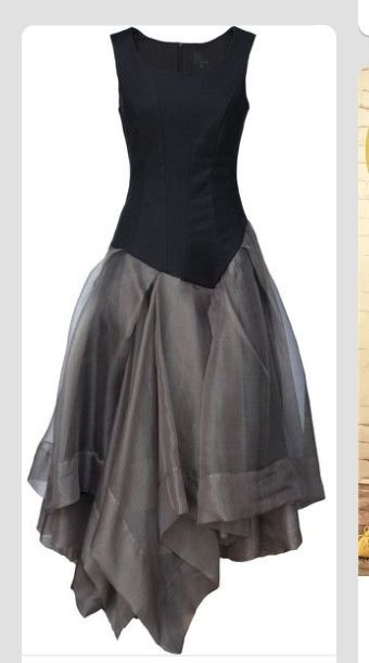 Asymmetrical --gorgeous evening dress or even Mother of the bride with the right accessories.