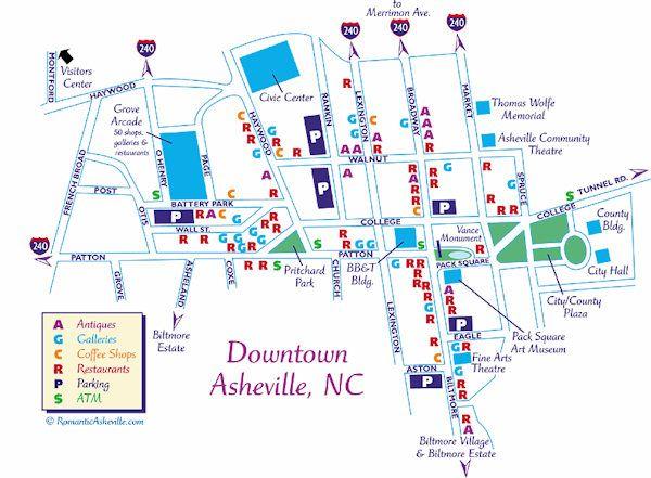 Downtown Asheville Map