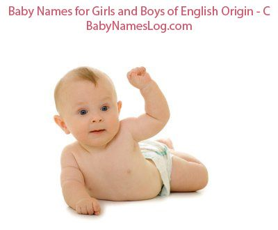 Baby Names For Girls And Boys Of English Origin That Start