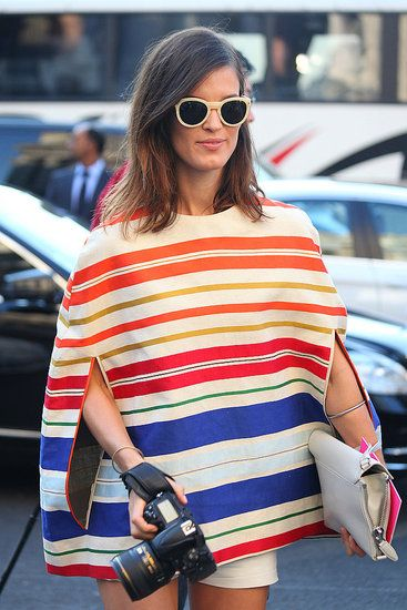 Stella McCartney blue and red striped cape, because a girl can never have too many capes!