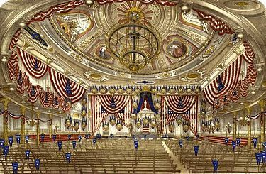 Tammany Hall decorated for the national convention in 1868 - Wikipedia, the free encyclopedia