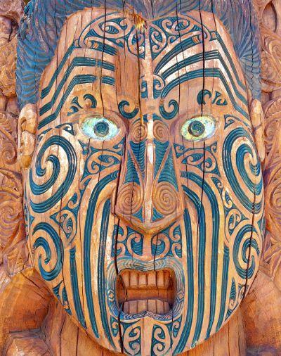 Maori tattoo carving