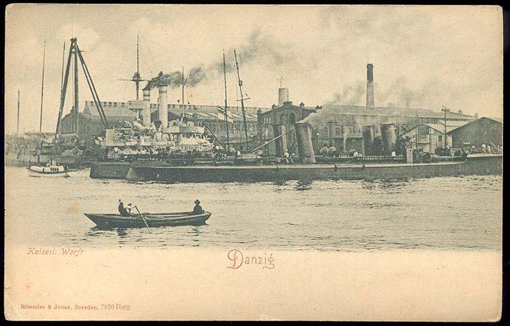 Danzig Kaiserliche Werft. Stocznia Cesarska w Gdańsku ok 1900 r