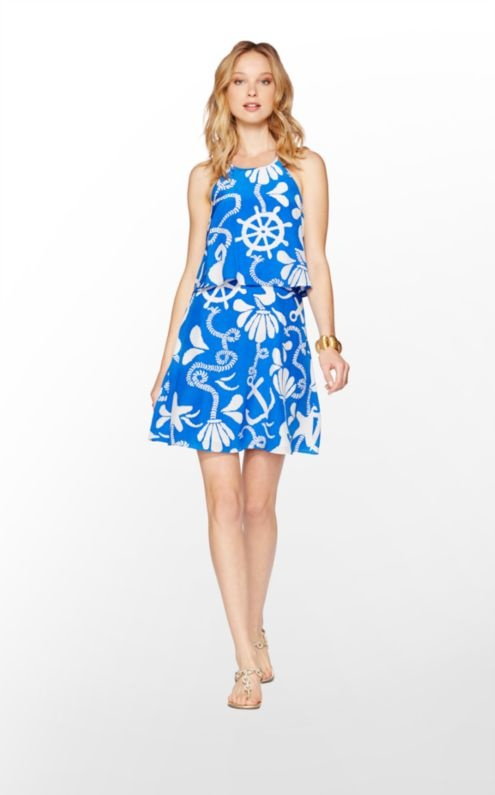 Polished party girls: stop searching for your perfect summer cocktail dress, we have found it for you! Introducing the Lilly Pulitzer Whistler, made of luxuriously light Silk CDC and featuring a flirty yet demure rhinestone t-back detail.