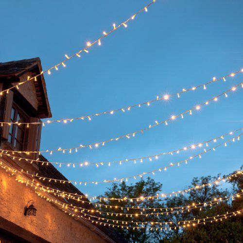 Guirlandes Lumineuses Raccordables Intérieure/Extérieures 24v, 240 LED Blanches Chaudes, 24m, Câble Transparent, Type CC