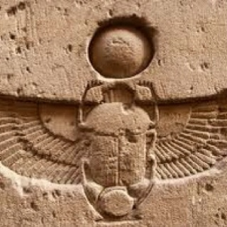 "Scarab: its meaning - the word ""transform"", or ""transformation"", the phrase Men-(Kh)eper-Re becomes: strong-transforming-Ra, and some renderings in common English are The Transforming Strength (of) Ra, or Ra's Steadfastness (of) Transformations. A much later word that replaced the kheper, 'transforming' was the Greek language ""epiphanous"", the word for manifesting."